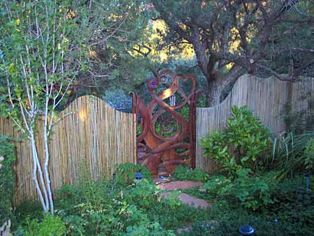 Sanctuary garden gate Sedona